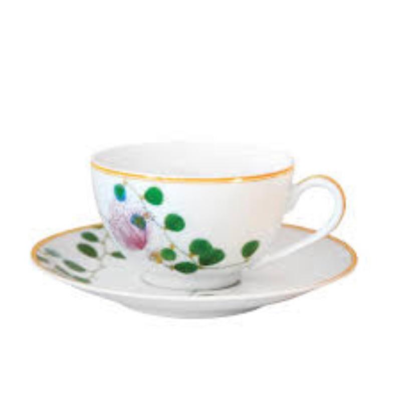 JARDIN INDIEN Tea cup and saucer, large