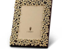Garland Frame W/Yellow Crystals, small