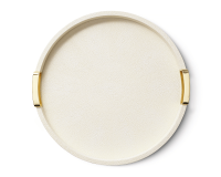 Carina Shagreen Round Tray, small