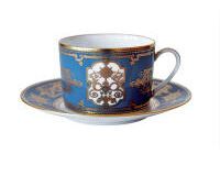 AUX ROIS TEA CUP AND SAUCER MO, small