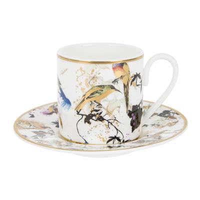 Garden Birds Espresso Cup & Saucer