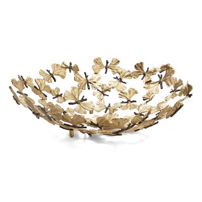 Butterfly Ginkgo Center Piece Bowl