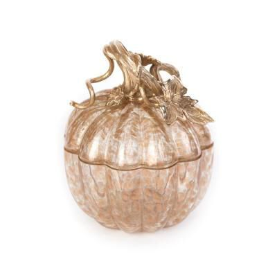 Hadley Leaf & Vine Gilded  Glass Jar
