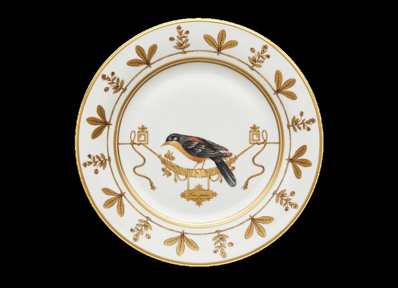 Soup Plate Volière Cou Jaune, large