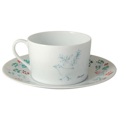 MARC CHAGALL  set of 2 assorted breakfast cups and saucers