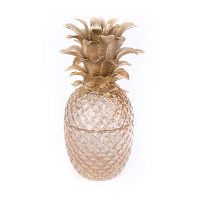 Giselle Pineapple Gilded Glass Jar