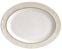 Sauvage Blanc Oval Platter, small