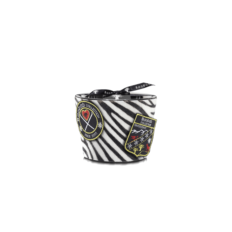 Jungle Black Zebrino Scented Candle, large