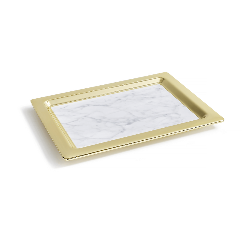 Marble Dual Tray, large