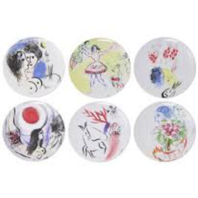 Marc Chagall Gift boxed set of 6 plates