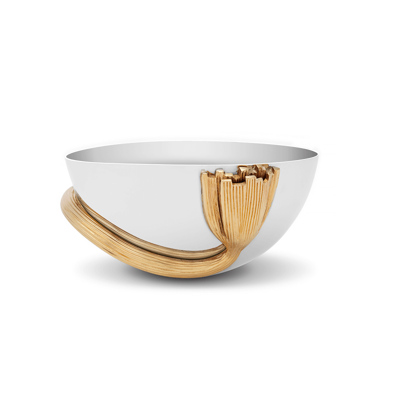 Deco Leaves Bowl, large