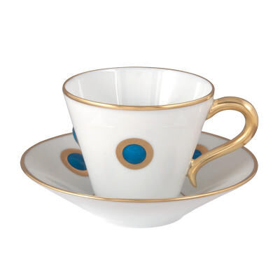 Thaque Bleu Espresso Cup And Saucer