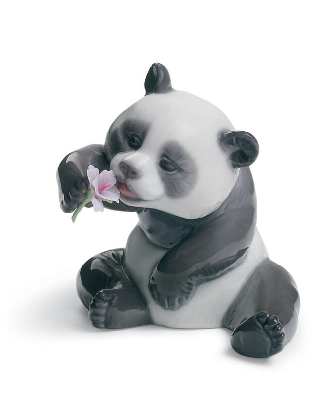 A Cheerful Panda Figurine, large