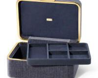 Beauvais Velvet Jewelry Box, small