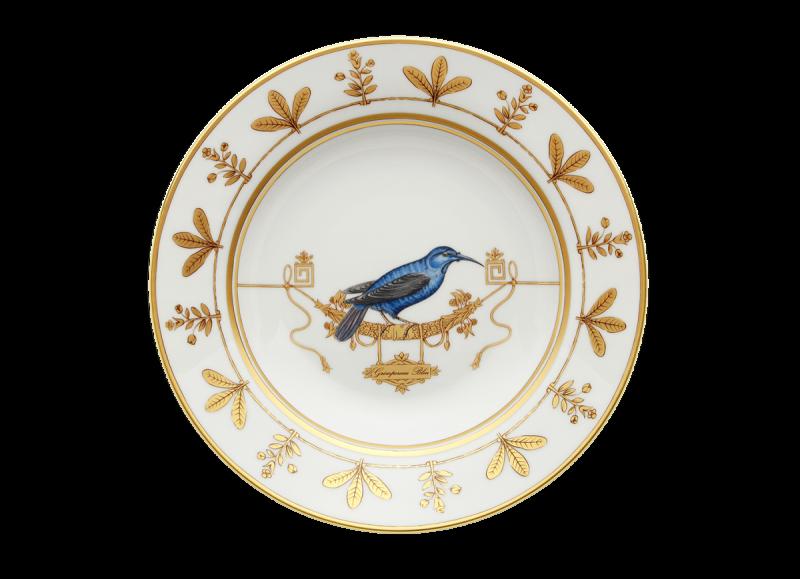Soup Plate Volière Grimpereau Bleu, large