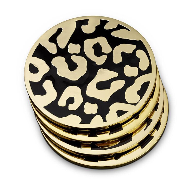 Leopard Coasters Set Of 4, large