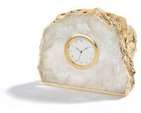 Ampliar Crystal And 24K Gold Clock, small