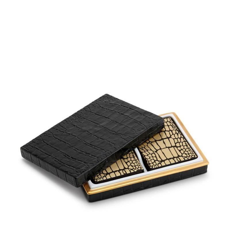 Crocodile Box With Playing Cards - 2 Decks, large