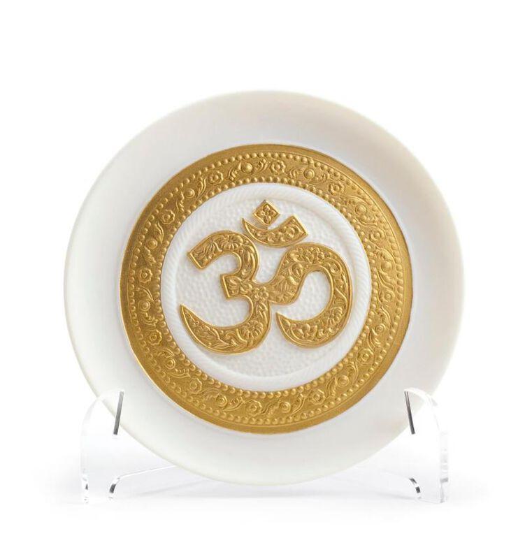 Om Decorative Plate, large