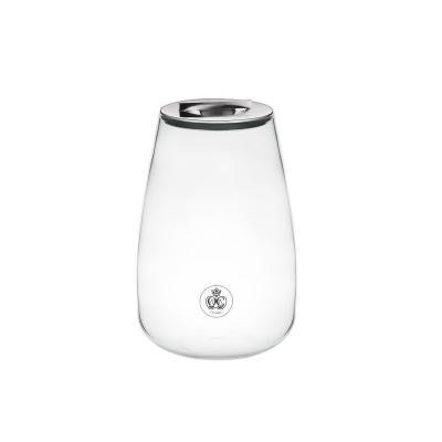 Silver Time Glass Jar