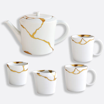 مجموعة كينتسوجي من 1 إبريق شاي 1 كوب 1 مقشدة