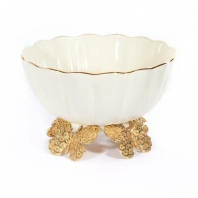 CATALINA PORCELAIN FLUTED BUTTERFLY BOWL