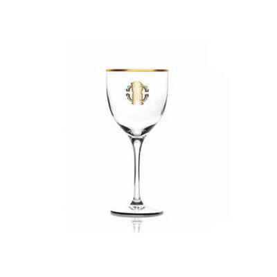 Monogramma Gold Wine Goblet