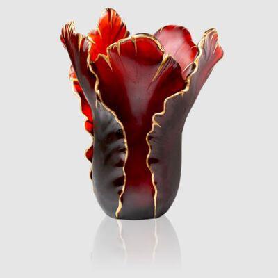 Tulipe Magnum Vase Red & Gold