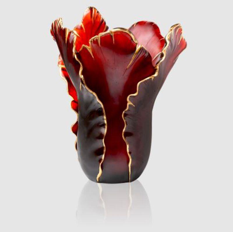 Tulipe Magnum Vase Red & Gold, large
