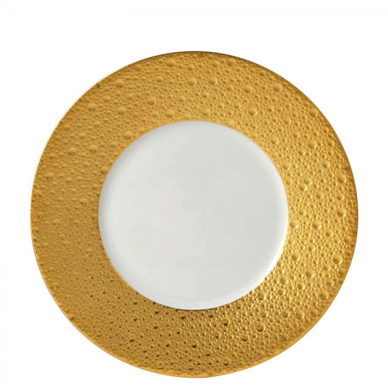 ECUME GOLD SALAD PLATE, large