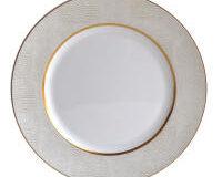 Sauvage Blanc Rim Soup Plate, small