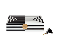 Op Art Lacquer Jewelry Box, small