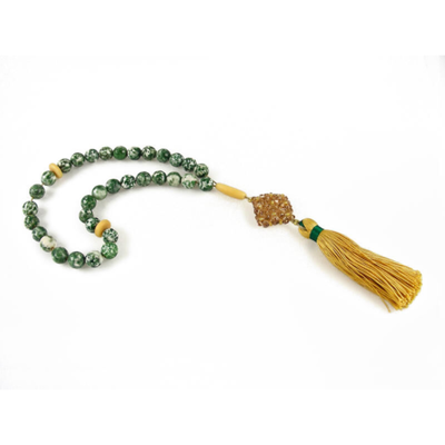 MASBAHA ROSARY SERPENTINE EXOTIC WOOD