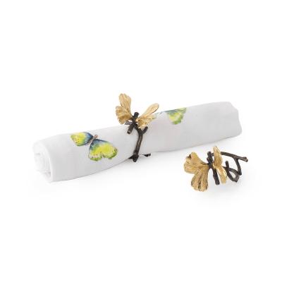 Butterfly Ginkgo Napkin Rings