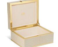 صندوق مجوهرات من جلد التمساح, small