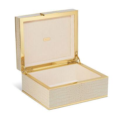 Croc Leather Jewelry Box
