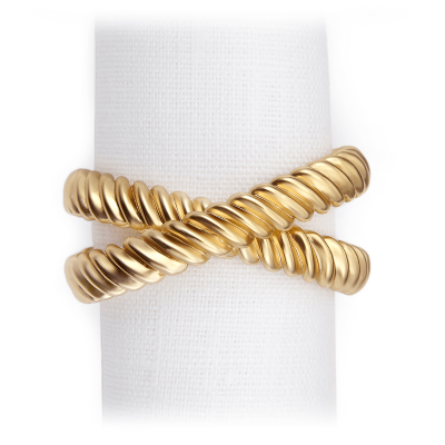 Gold Deco Napkin Rings - Set of 4