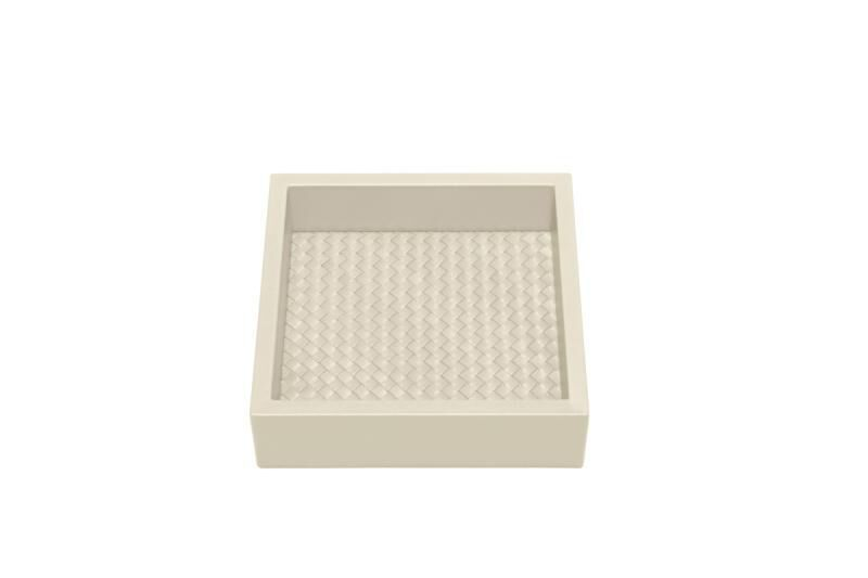 Leather Tray Padded Hand Woven, large