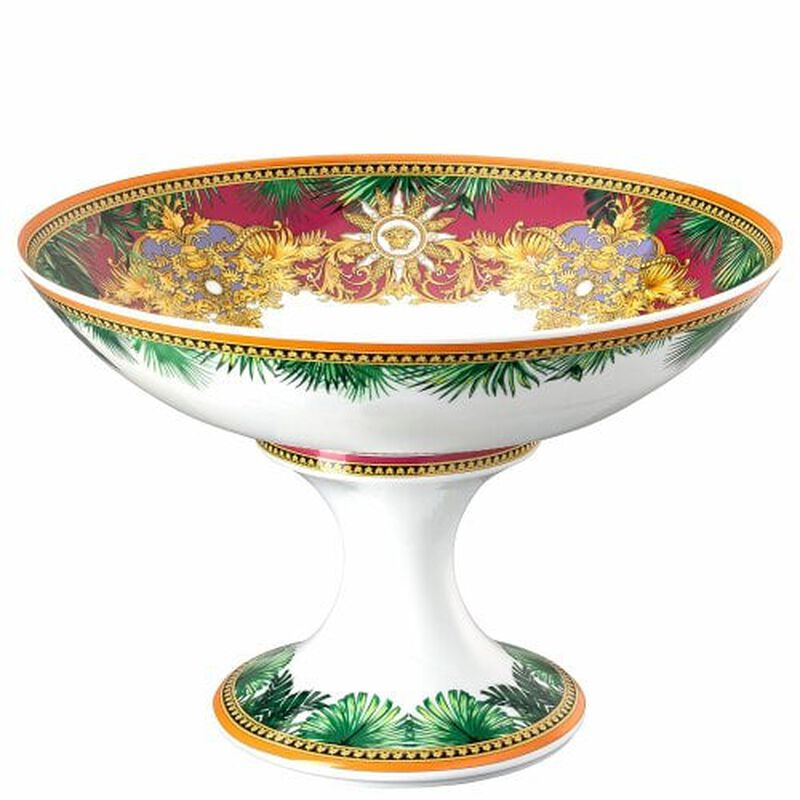 Jungle Animalier Footed Bowl, large