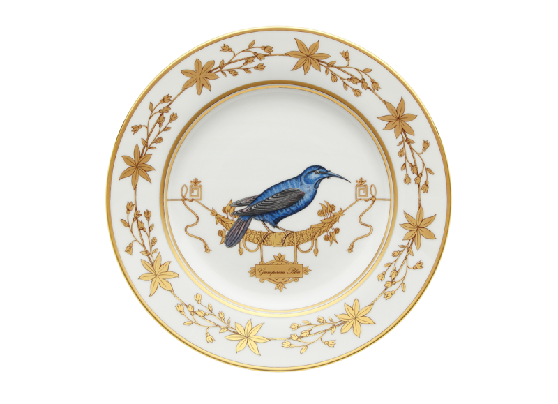 Dinner Plate Volière Grimpereau Bleu, large
