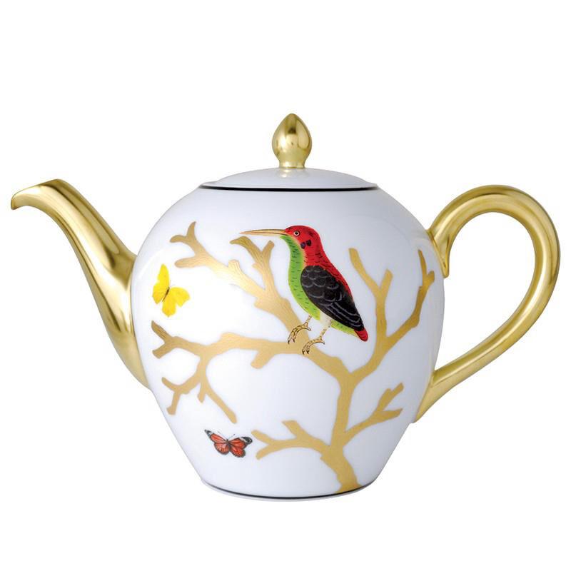 وعاء قهوة شرقي مع الطيور, large