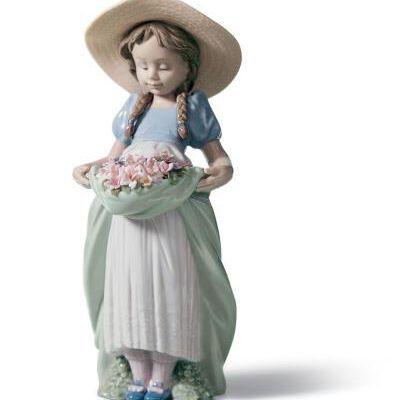 Bountiful Blossoms Girl Figurine