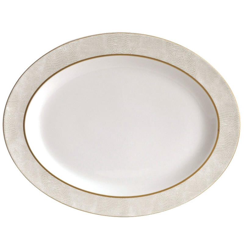 Sauvage Blanc Oval Platter, large