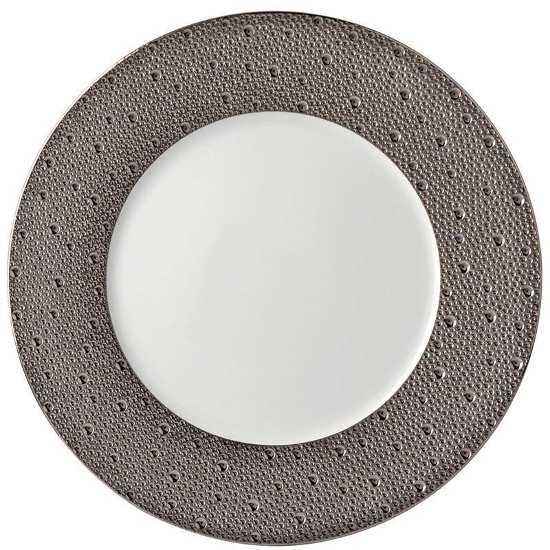Ecume Platine Service Plate, large