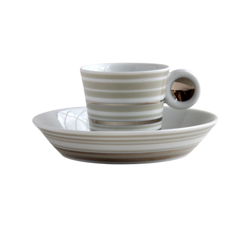 LAMPEDUZA SET OF 6 COFFEE CUPS & SAUCERS, large