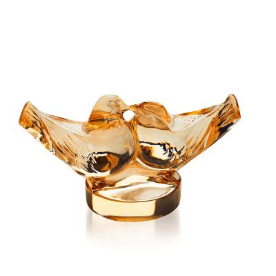 Gold Luster Lovebirds Sculpture