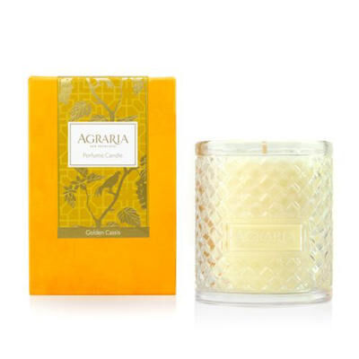 GOLDEN CASSIS WOVEN CRYSTAL CANDLE