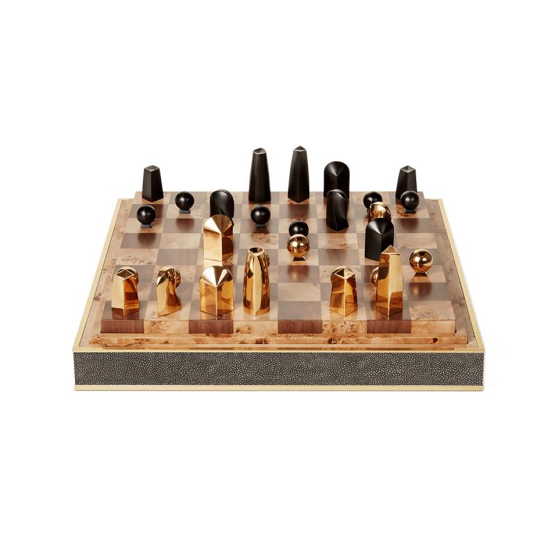 Shagreen Chess Set, large
