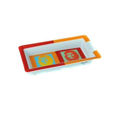 Porcelain Ashtray  CHE POP ART Orange/Red