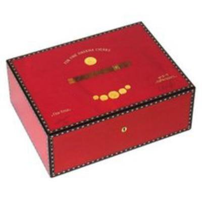 """صندوق خشبي  50 """"ميداليات"""" السيجار"""